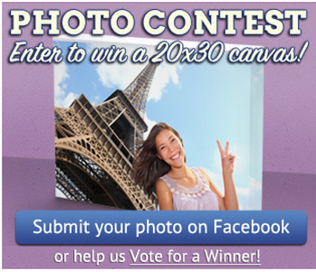 Photo Contest. Enter to win a 20x30 canvas! Submit your photo on Facebook or help us pick a winner.