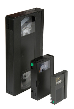 VHS video tape, VHS-C and Super VHS.